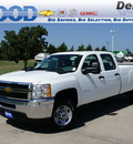 chevrolet silverado 2500hd 2013 white work truck gasoline 8 cylinders 4 wheel drive 6 speed automatic 76234