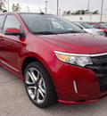 ford edge 2013 red suv sport gasoline 6 cylinders front wheel drive shiftable automatic 77338