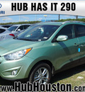 hyundai tucson 2013 green gls gasoline 4 cylinders front wheel drive autostick 77065