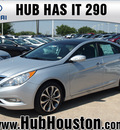 hyundai sonata 2013 silver sedan limited 2 0t gasoline 4 cylinders front wheel drive autostick 77065