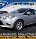 ford focus 2013 silver sedan se flex fuel 4 cylinders front wheel drive automatic 32401