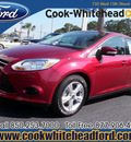 ford focus 2013 red hatchback se flex fuel 4 cylinders front wheel drive automatic 32401
