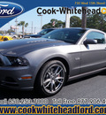 ford mustang 2013 gray coupe gt premium gasoline 8 cylinders rear wheel drive manual 32401