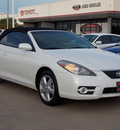 toyota camry solara 2008 white sle v6 gasoline 6 cylinders front wheel drive shiftable automatic 77074