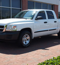 dodge dakota 2008 white sxt gasoline 6 cylinders rear wheel drive automatic with overdrive 77450