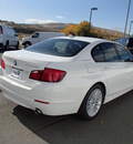 bmw 5 series 2013 white sedan activehybrid 5 hybrid 6 cylinders rear wheel drive automatic 99352