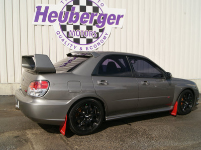 subaru impreza wrx sti 2006 steel gray sedan 4 cylinders 5 speed manual 80905