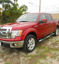ford f 150 2010 dk  red lariat 8 cylinders automatic 75606