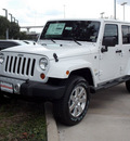 jeep wrangler unlimited 2013 white suv sahara 6 cylinders automatic with overdrive 77099