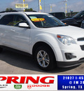 chevrolet equinox 2011 white lt gasoline 4 cylinders front wheel drive automatic 77388