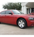 dodge charger 2008 red sedan gasoline 6 cylinders rear wheel drive automatic 77566