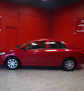 toyota corolla 2010 red sedan le gasoline 4 cylinders front wheel drive automatic 76116