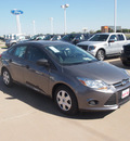 ford focus 2013 gray sedan s 4 cylinders 5 speed manual 76108