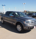 ford f 150 2013 gray platinum 8 cylinders automatic 76108