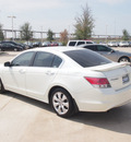 honda accord 2008 white sedan ex l w nav gasoline 6 cylinders front wheel drive automatic 76137