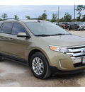 ford edge 2013 gold limited gasoline 4 cylinders front wheel drive automatic 77575
