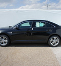 ford taurus 2013 black sedan sel gasoline 6 cylinders front wheel drive automatic 75235