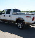 ford f 250 super duty 2005 white lariat 8 cylinders automatic 78064