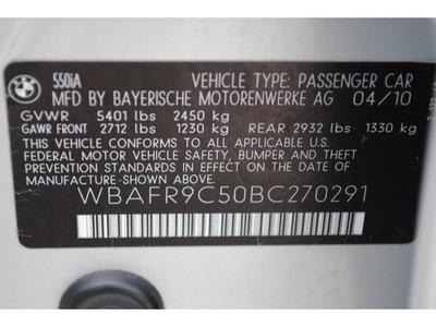 bmw 5 series 2011 gray sedan 550i gasoline 8 cylinders rear wheel drive automatic 77002