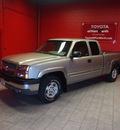 chevrolet silverado 1500 2003 silver ls gasoline 8 cylinders 4 wheel drive automatic 76116