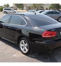 volkswagen passat 2012 black sedan se gasoline 5 cylinders front wheel drive automatic 78411