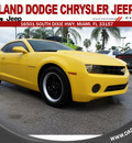 chevrolet camaro 2012 yellow coupe ls 6 cylinders automatic 33157