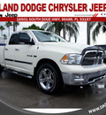 dodge ram 1500 2010 off white pickup truck 8 cylinders automatic 33157