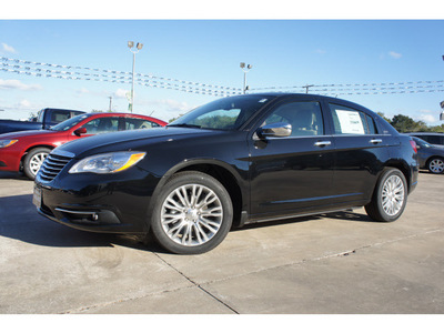 chrysler 200 2013 black sedan limited 6 cylinders automatic 77515