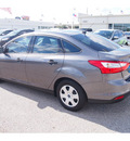 ford focus 2013 gray sedan s flex fuel 4 cylinders front wheel drive 5 speed manual 77074