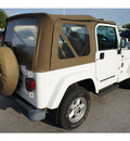 jeep wrangler 1999 white suv sahara 6 cylinders 5 speed manual 78729