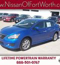 nissan sentra 2013 metallic blue sedan sr 4 cylinders front wheel drive automatic 76116