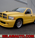 dodge ram pickup 1500 srt 10 2005 yellow pickup truck 2wd gasoline 10 cylinders rear wheel drive 6 speed manual 98371