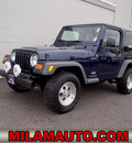 jeep wrangler 2005 blue suv sport gasoline 6 cylinders 4 wheel drive 6 speed manual 98371