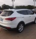 hyundai santa fe sport 2013 white 2 0t gasoline 4 cylinders front wheel drive automatic 76049