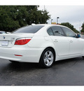 bmw 5 series 2008 white sedan 528i gasoline 6 cylinders rear wheel drive automatic 77074