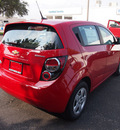 chevrolet sonic 2013 victory red hatchback ls gasoline 4 cylinders front wheel drive automatic 75075