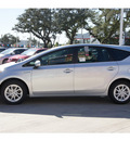toyota prius v 2012 silver wagon three hybrid 4 cylinders front wheel drive automatic 78232
