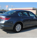 honda accord 2012 dk  gray sedan lx gasoline 4 cylinders front wheel drive 5 speed automatic 77025