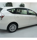 toyota prius v 2012 white wagon three hybrid 4 cylinders front wheel drive automatic 91731
