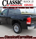 gmc sierra 1500 2012 black onyx work truck flex fuel 8 cylinders 2 wheel drive automatic 75007