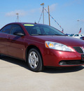 pontiac g6 2008 red sedan value leader gasoline 4 cylinders front wheel drive automatic 75141