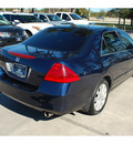 honda accord 2007 dk  blue sedan special edition v 6 gasoline 6 cylinders front wheel drive automatic 77339