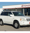toyota highlander 2001 white suv gasoline 6 cylinders dohc all whee drive automatic 76543