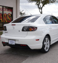 mazda mazda3 2005 white sedan s gasoline 4 cylinders front wheel drive shiftable automatic 75080