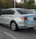 honda accord 2009 silver sedan ex l v6 6 cylinders automatic with overdrive 77074