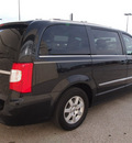 chrysler town and country 2011 black van touring 6 cylinders automatic 76011