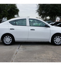 nissan versa 2013 white sedan 1 6 s plus gasoline 4 cylinders front wheel drive not specified 77477