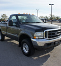 ford f 250 super duty 2004 dk  gray pickup truck xlt diesel 8 cylinders 4 wheel drive automatic 75119