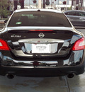 nissan maxima 2009 black sedan 3 5 sv gasoline 6 cylinders front wheel drive shiftable automatic 77477