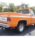 chevrolet silverado 1976 orange automatic 76543